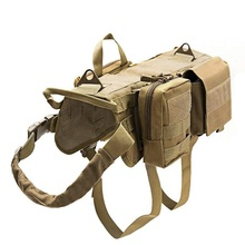 Pet Harnesses Tactical Service Dog Vest Waterproof Molle Nylon Military Harness for Medium Large Dogs Outdoor Training