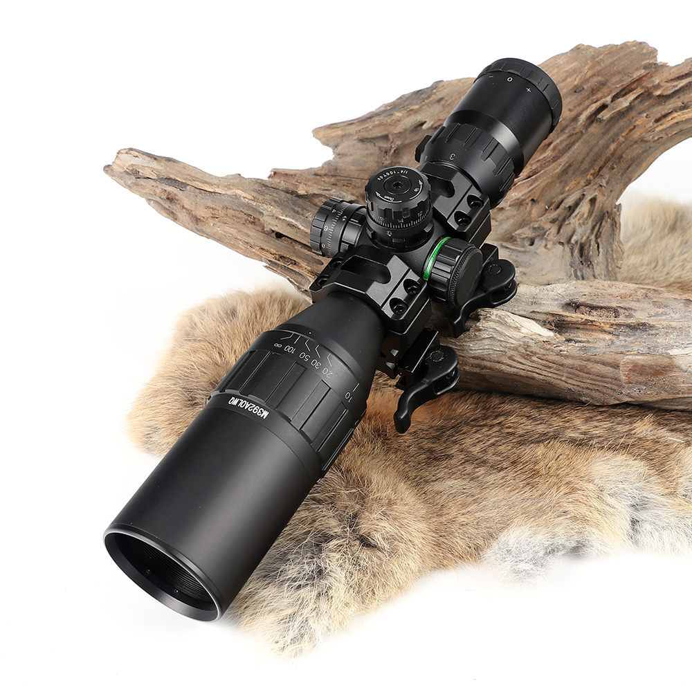 Hunting Optics 3-9x32 AOLMQ Compact Mil Dot Reticle Riflescopes Locking With Sun Shade and QD Rings Tactical Rifle Scope прицел hawke panorama ev 3 9x50 10x half mil dot ir hk5161