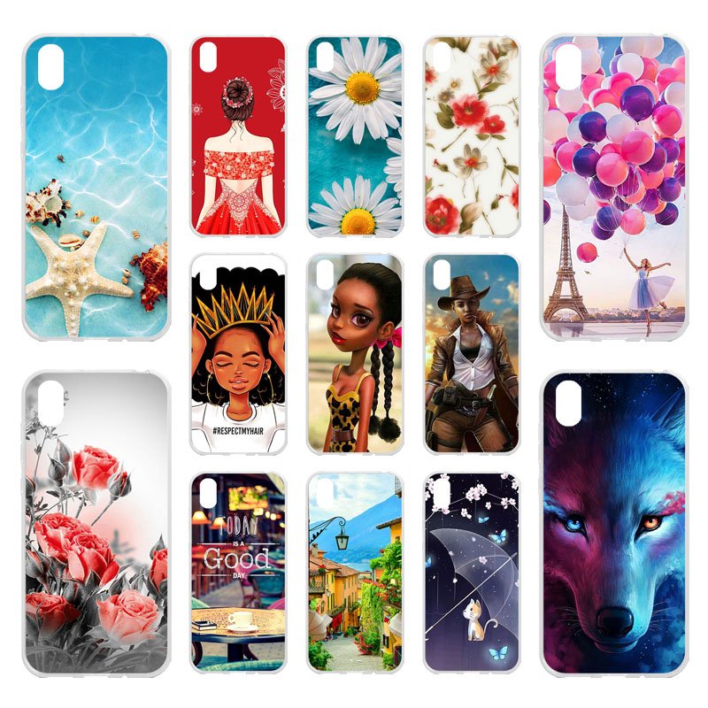Phone Case For <font><b>Huawei</b></font> Honor 8s Cases <font><b>Silicone</b></font> Bumper For <font><b>Huawei</b></font> <font><b>Y5</b></font> <font><b>2019</b></font> AMN-LX9 AMN-LX1 AMN-LX2 Covers Flamingo Nutella Fundas image