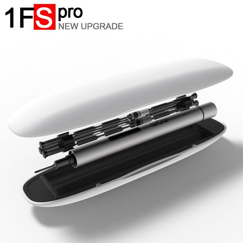Wowstick 1 p 1FS pro Precisione mini cordless cacciavite elettrico con 2 batterie per la batteria del telefono mobile Strumenti di Riparazione Della Macchina Fotografica