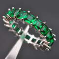 AAA Quality Green Stone Cubic Zirconia For Women  925 Sterling Silver Jewelry Fashion Ring # 6 7 8 9 10 S0116 Free Shipping