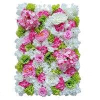 60x40 cm kunstbloem muur achtergrond Bruiloft rekwisieten levert wanddecoratie Arches zijde bloem Rose pioen Venster studio