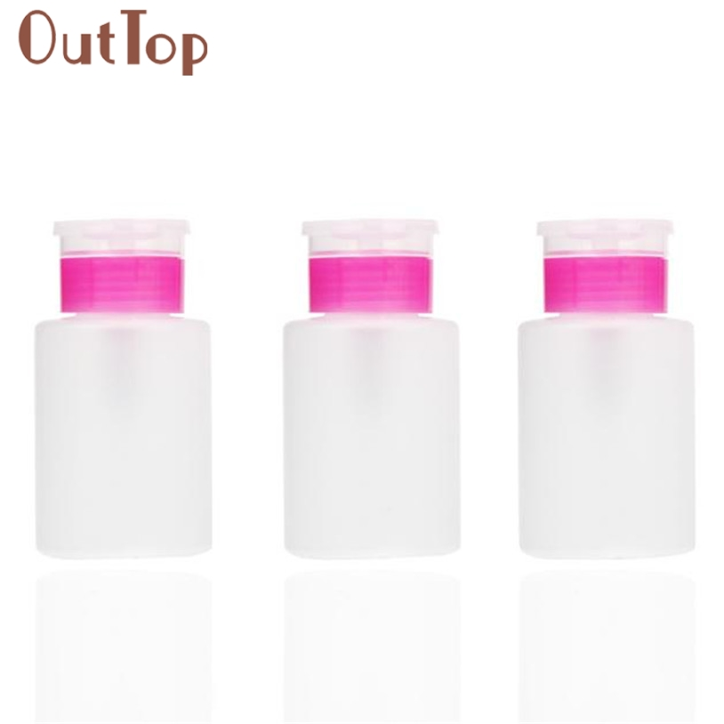OutTop Refillable Bottles Portable Travel Shower Lotion Bottles Manicure Wash Pump Bottle G6927