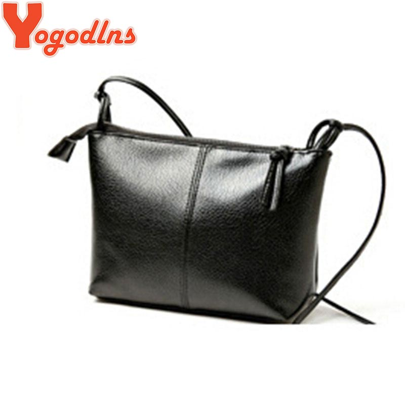 2017 new Women's shoulder bags hot sales PU soft leather handbag Fashion Cross body handbags Black Clutch messenger bags