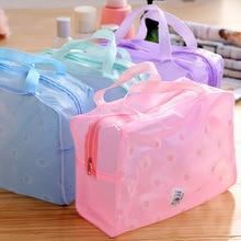 Pvc Women Wash Bag Waterproof Cosmetic Bags Travel Small Daisy Printing Portable Storage Cosmetic Bag 45