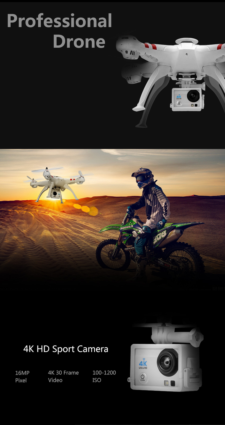 X16 rc drones with camera hd dron GPS height 500 meters fly distance Fpv quadcopter rc helicopter Brushless Motor 4K 1600W Toys 6