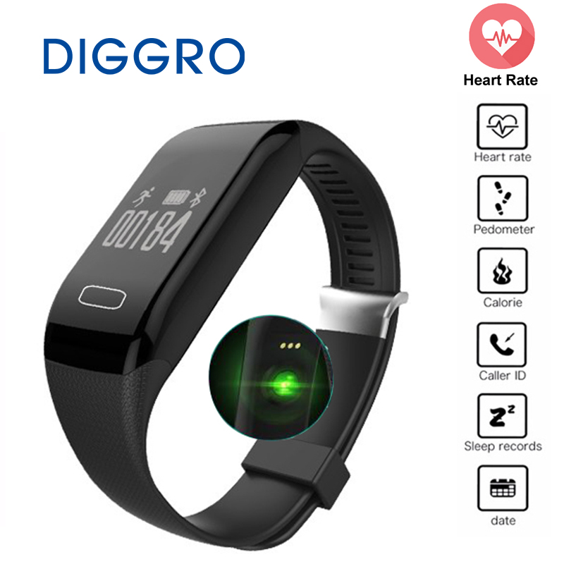 Diggro H3 Smartband Fitness Tracker Smart Bracelet Heart Rate Monitor Wristband Bluetooth Pedometer Sport for Android