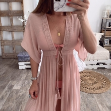 MoneRffi 2019 Summer Women Cover Up Sexy Beach Cover Ups Chiffon Long D