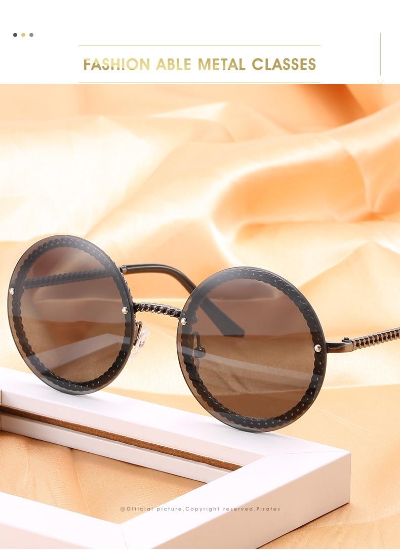 2 brand sunglasses women round oculos