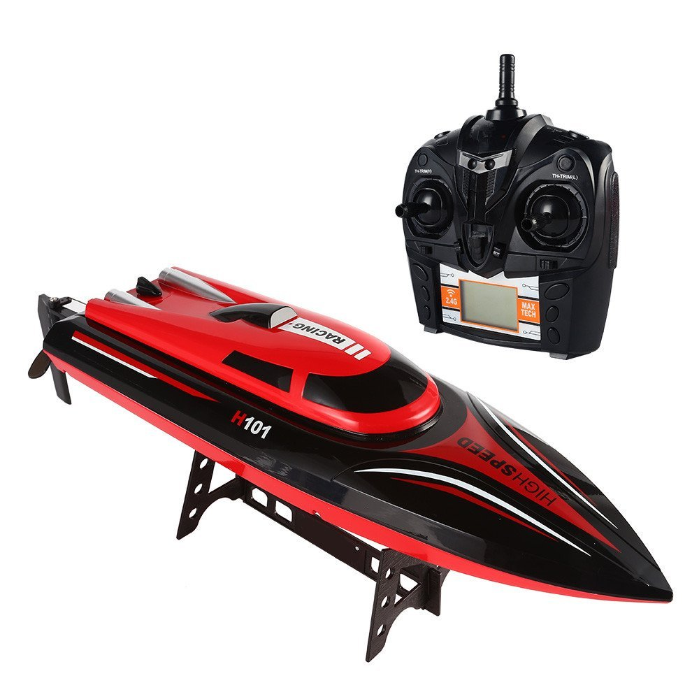 TKKJ H101 2.4G RC Boat 180 Degree Flip High Speed Racer Boat Electric RC Racing Boat for Pools, Lakes and Outdoor Adventure lakes restaurant
