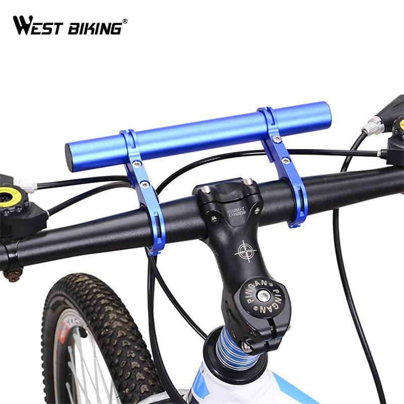 WEST RADFAHREN Fahrrad Licht Halter Lenker Extender 25,4/31,8 MM Radfahren Fahrradrahmen Doppelte Erweiterung Halterung für Fahrrad licht