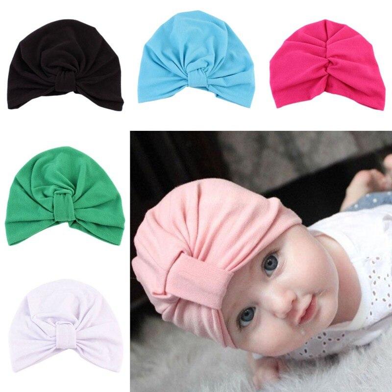 New1-5 лет Детские Hat зима теплая Обувь для мальчиков Обувь для девочек шапки для новорожденных богемный Стиль Индии Шапки Карамельный цвет