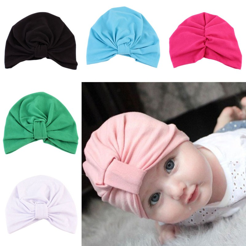 new1-5 Years Baby Hat Winter Warm Boys Girls Caps Infant Bohemian Style  India Hats Candy Color 943b470e68e