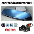 Auto rückfahrkamera dual objektiv spiegel auto DVR umfassen hinten kamera video recorder registrator dash cam HD nachtsicht 4 3 zoll-in DVR/Dash Kamera aus Kraftfahrzeuge und Motorräder bei