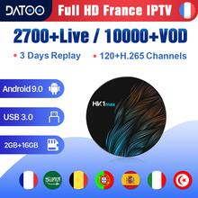 IPTV France Arabic Portugal Turkey Spain DATOO HK1 MAX Android 9.0 2G+16G USB3.0 French Italia 1 Year IP TV