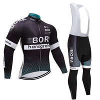 Winter 2018 TEAM BORA Cycling JERSEY Bike Pants Set Mens Ropa Ciclismo Thermal Fleece Bicycle Clothing