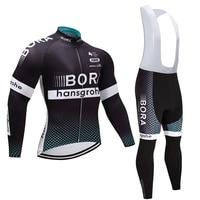 Winter 2018 TEAM BORA Cycling JERSEY Bike Pants Set Mens Ropa Ciclismo Thermal Fleece Bicycle Clothing