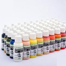 X025-X048 цветов пластиковая модель краски аэрограф живопись Сделай Сам ручной paitned нетоксичный акриловый пигмент глина окраска на водной основе 20 мл