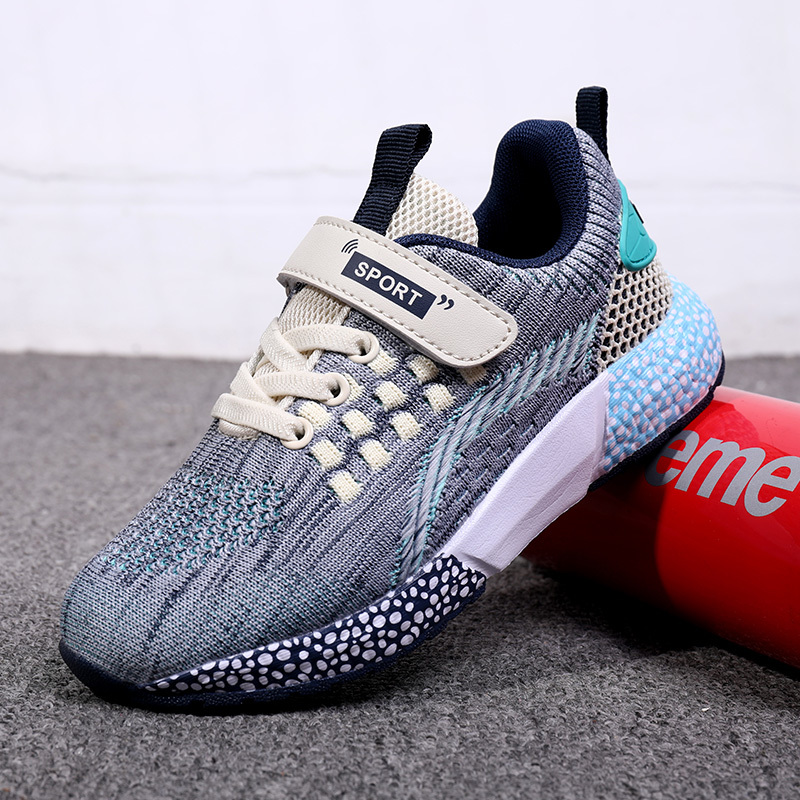 ULKNN Children's Sports Shoes For Boys And Girls 2019 Autumn New Single Layer Mesh Breathable Big Boy Hollow Kids Shoes