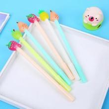 Jonvon Satone 40 Pcs Groothandel Kinderen Schrijven Pennen Fruit Pen Leuke Kids Waterbasis Pen Kawaii Briefpapier Voor schoolbenodigdheden