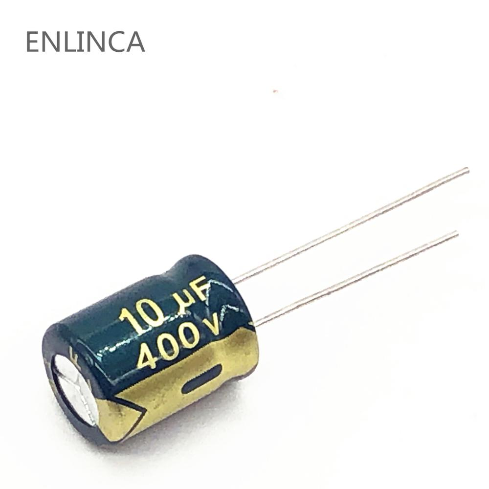 10pcs/lot S103 10uf400V  Aluminum Electrolytic Capacitor Size 10*13mm 400V 10uf