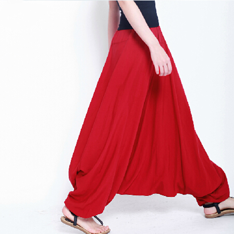 2016 fashion Cotton bloomers large crotch pants ,loose Onesize Unissex Loose trousers, wide leg pants,14 color causal pants