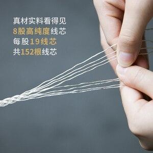 Image 5 - Fiio LC 2.5C/3.5c/4.4c shure/westone/jvc/fiio 용 손으로 짠 mmcx 밸런스드 이어폰 교체 케이블 2.5mm 3.5mm 4.4 cm 플러그