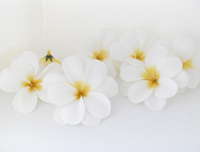 50 pieces white artificial hawaiian plumeria frangipani silk flowers 50 pieces white artificial hawaiian plumeria frangipani silk flowers wedding decoration b47 mightylinksfo
