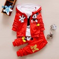 New Fashion Mickey Cotton Child Clothes 2017 Spring Autumn  Child Clothing  Set 3pcs  Coat T-shirt Pants T2692