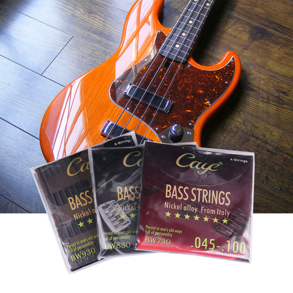 2017 New Style CAYE BW Electric Guitar Bass Strings Series (Color Plastic Bag Seal) Feel Comfortable Vigorous Sound Quality savarez 510 cantiga series alliance cantiga ht classical guitar strings full set 510aj