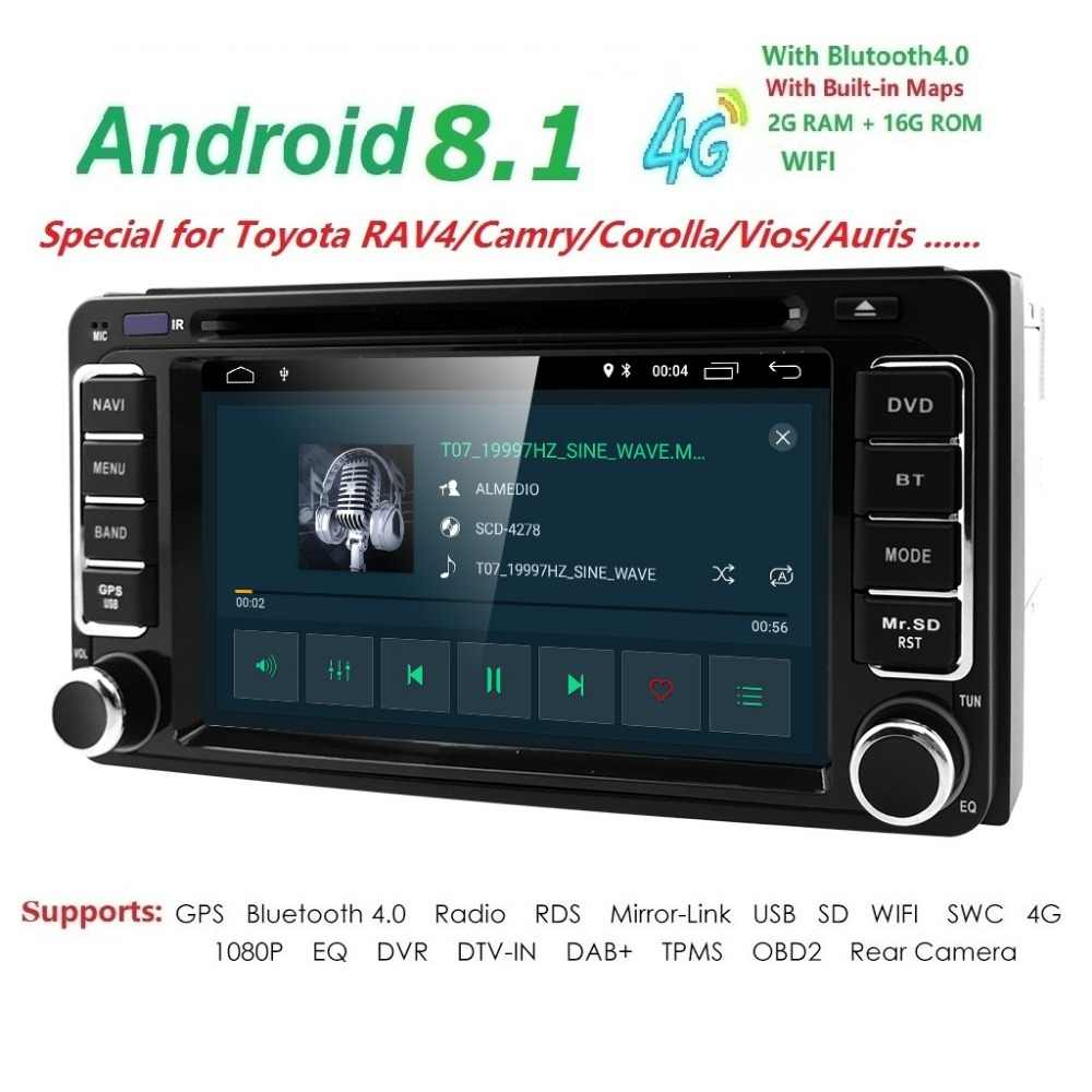 medium resolution of 4g dvr swc map 2din quadcore android8 1 car dvd player for toyota previa old