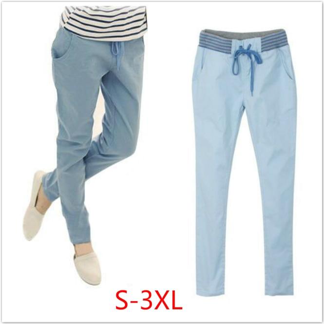 Harem   pants     capri   trousers women linen leggings summer 2018 lady casual plus big size xxl xxxl stretch long slim pantalon femme