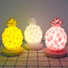 Novelty  Pineapple Lamp LED Night Light USB Rechargeable Touch Control Changing Desk Lamp Table Light Home Decor for bedroom usb led table lamp firework line light desk lamp for bedroom novelty christmas gift abajur decorative childrens kids night light