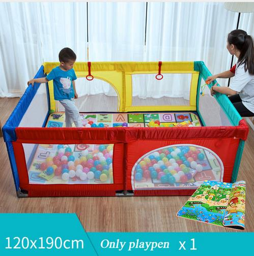 Free Shipping Foldable Baby Playpen Fence Steel Pipe Baby Play Fence Toddler Indoor Safety Play Pool Child Protection 0~5 Years