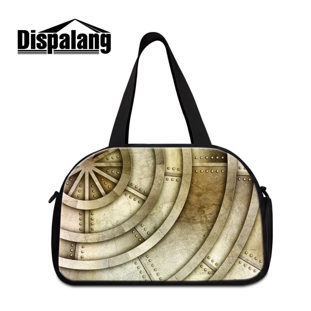 Dispalang Large Travel Bag Metal Pattern Luggage Duffle Bag Women Casual Handbags For Men Shoulder Bag Road Weekend Bag Tote