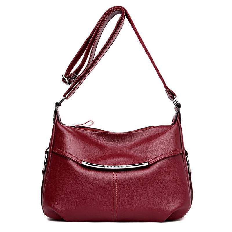 2018 New Fashion Patchwork Genuine Leather Women Bags Handbags Shoulder Crossbody Bags for Women Leather Luxury Handbag