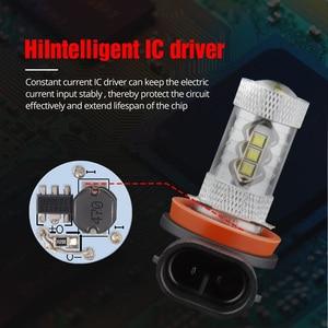 Image 5 - NAO H11 led 9005 HB3 9006 HB4 fog lights H8 H10 12V 16SMD CREE Chip DRL 1600lm Car LED H9 80W Auto Bulb 6000K White Lamp