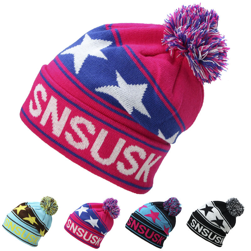 Women Winter Knitted Hats Gorro Beanie For Men Women Beanies Hat Bonnet Outdoor Sport Skiing Chapeu Cap Beanies Warm For Men men winter hat beanie gorro gorros de lana gorras chapeu cap skullies beanies masculino casquette toca hats warm bonnet w0