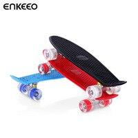 Enkeeo 22 Inch Plastic Cruiser Skateboard 22 X 16 With Sturdy Deck 4 PU Casters Skateboards