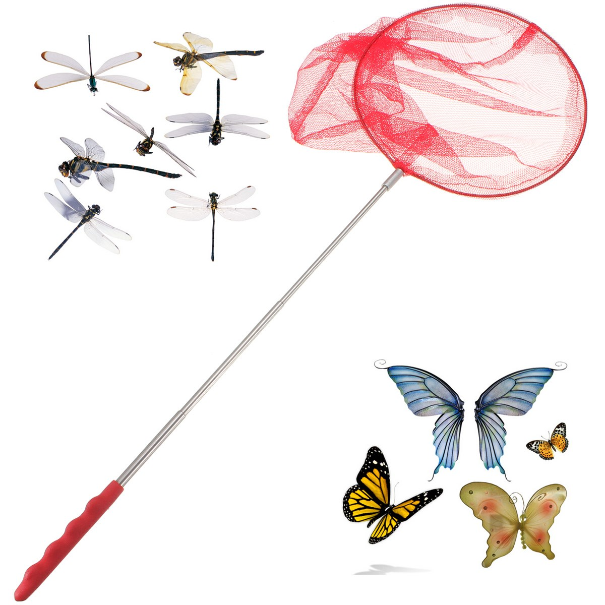 Kids Outdoor Toys 5 Sections Retractable Hunting Butterflies Insect Net Tools Spring Outing Toys Water Fishing Toys Toys & Hobbies