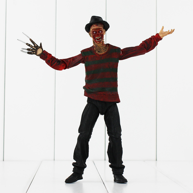 18cm  NECA A Nightmare on Elm Street Freddy PVC Figure Toys Collecition Model Toys Doll hot freddy classic horror film nightmare on elm street 30th anniversary ultimate neca 18cm action figure new box