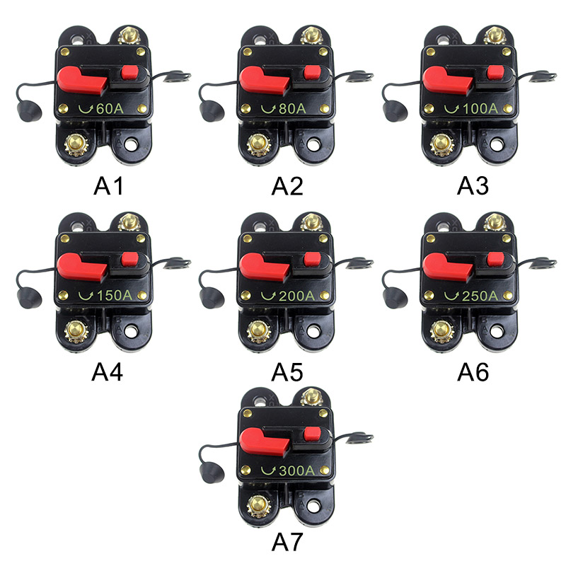 Dropship Automatic 60-300A Car Audio In Line Automatic Recovery Protection Circuit Breaker Fuse Recovery Protection HolderDropship Automatic 60-300A Car Audio In Line Automatic Recovery Protection Circuit Breaker Fuse Recovery Protection Holder