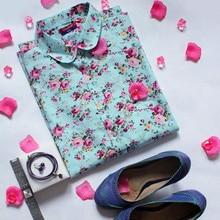 Blouses Vintage Floral Blouse Long Sleeve Shirt Women Camisas Femininas Female Tops Fashion Cotton Shirt