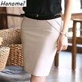 Saias cortos Femininas Señoras de la Oficina Formal Casual Faldas de Cintura Alta Sobre La Rodilla de Las Mujeres Falda Lápiz Faldas Negro Gris Beige C162