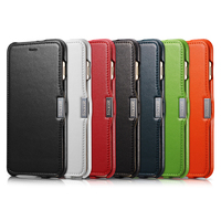 Icarer Side Open Hand Made Of First Layer Leather Genuine Leather Flip Case For IPhone 6
