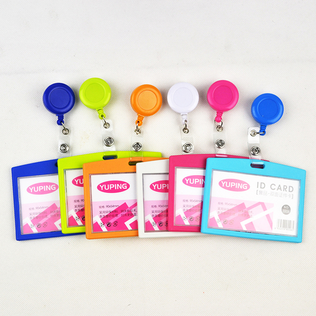 10 pcslot business id card badge holder horizontal for company school office exhibition use