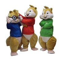 2018 New Alvin and the Chipmunks Mascot Costume Alvin Mascot Costume fancy dress party