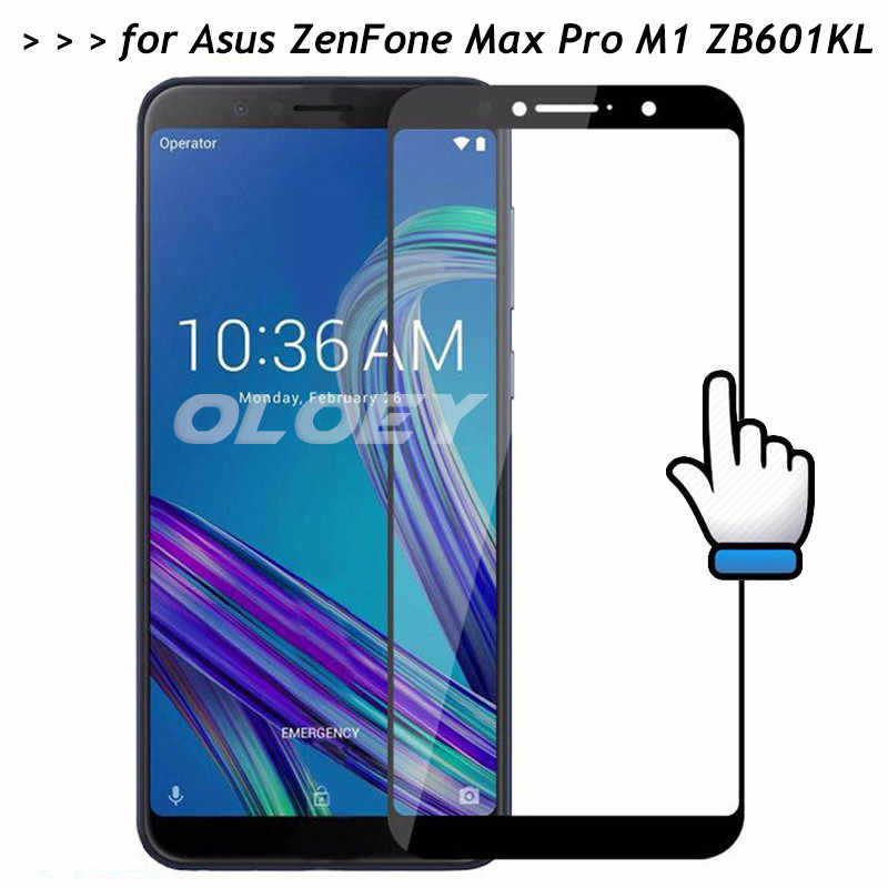 For Asus ZenFone Max Pro M1 ZB601KL Full Cover 3D Screen Protector 9H Front Tempered Glass Film On ZB 601KL 601 601KL X00TD