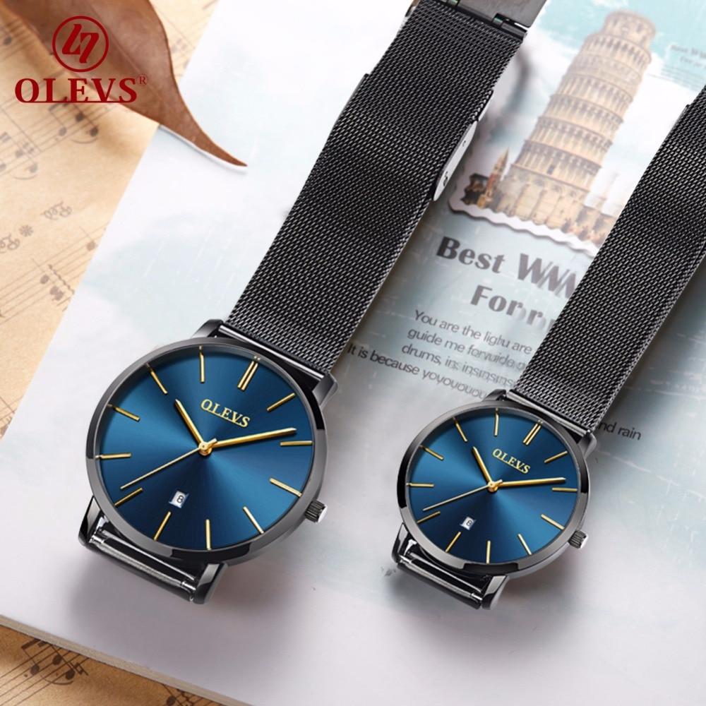 Couple Watch Men Women watches OLEVS Luxury brand Quartz High quality relogio masculino Ultrathin Clock Unisex Lovers watch saat