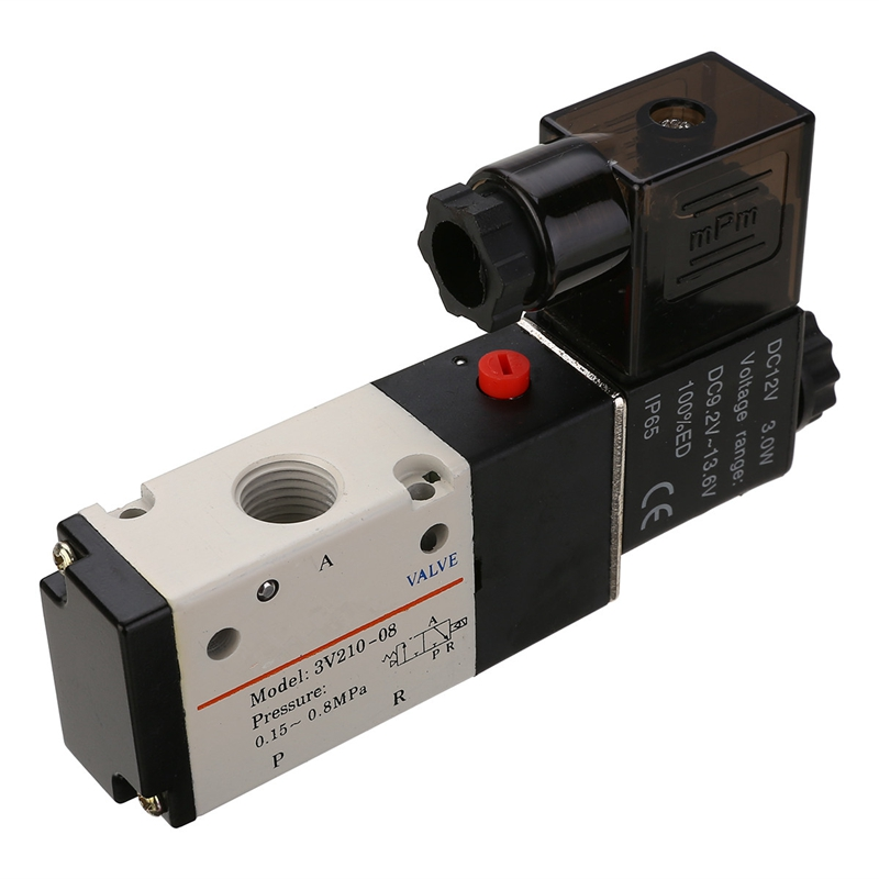 DC12V 1/4'' 3 Way 2 Position Pneumatic Solenoid Valve Electric Solenoid Valve for Water Air Gas цена